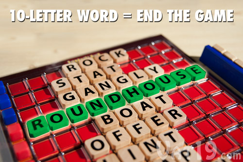 Create a 10-letter word and you will instantly win the game.