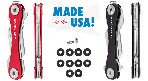 The KeySmart is handmade in Chicago, IL.