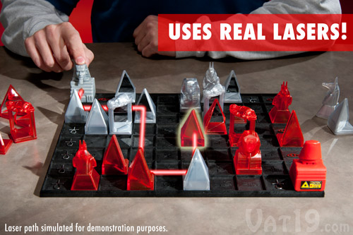 The Khet Laser Game 2.0 strategy board game on a table.