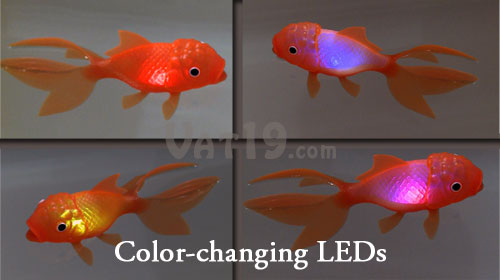 Koi Toy water-activated color-cycling bath and pool toy