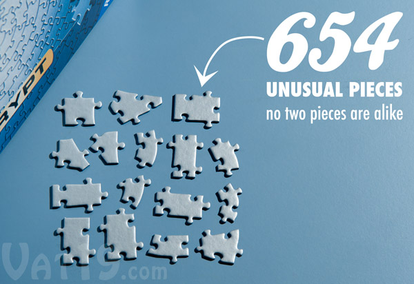 The Krypt Jigsaw Puzzle features 654 unique pieces.