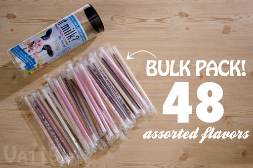 Got Milk? Magic Milk Straws are available in a 48-pack of assorted flavors.