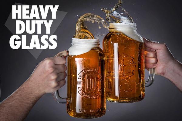 Mason Jar Beer Stein Holds A Half Gallon Of Beer