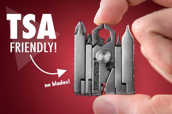 The bladeless MicroMax is TSA friendly.