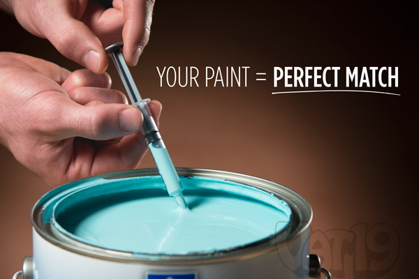 Because you're using your own paint, the touch-ups will always be an exact match.