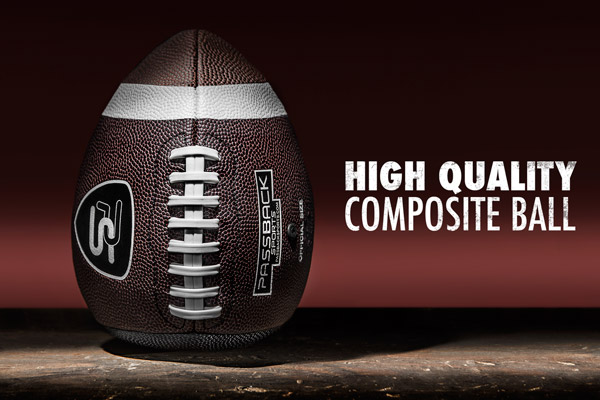 Passback is a high quality ball made from composite materials.