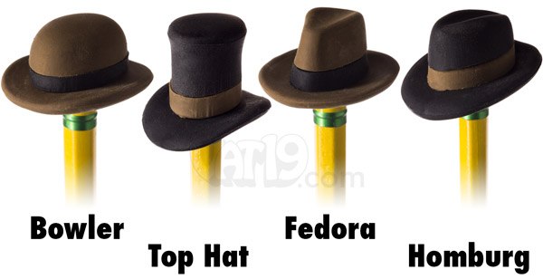 Each set of Pencil Eraser Hats includes four different styles of hat.