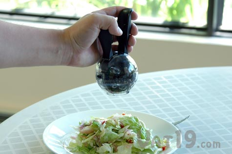 PepperBall Pepper Grinder is a one-handed pepper grinder
