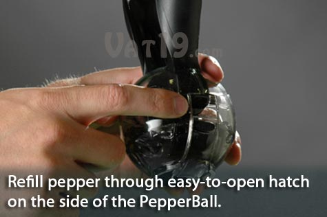 It's easy to refill the PepperBall Pepper grinder