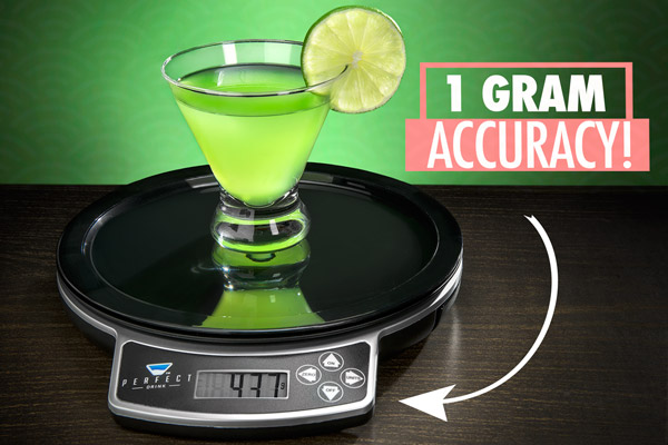 The perfect drink by brookstone app controlled smart for Perfect drink bluetooth scale