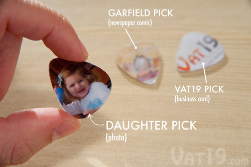 Create custom guitar picks with the Pick Punch.