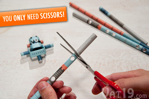 All you need is a pair of scissors to create Piperoid Paper Robots.