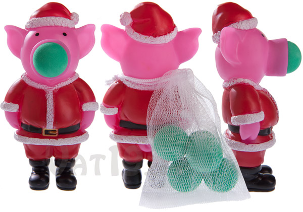Santa Pig Popper from multiple angles.