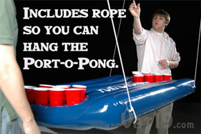 Hang this beer pong table from the ceiling