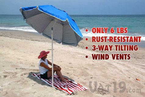 The Portabrella Beach Umbrella Is A Lightweight Compact