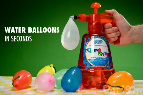 The Pumponator Balloon Pumping Station makes water balloons in seconds.
