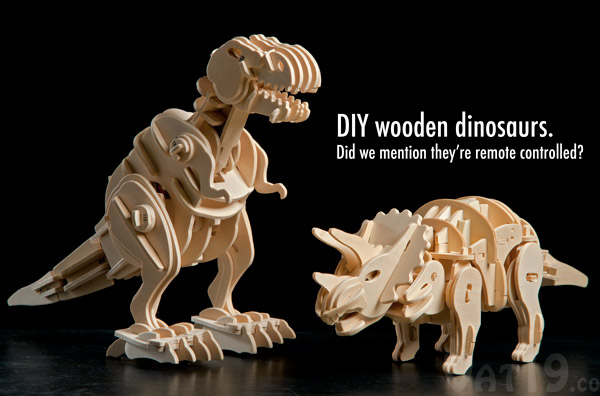 Wooden Dinosaur: Build your own robotic dinosaur