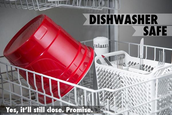 The large RedNek Party Bucket is dishwasher safe.