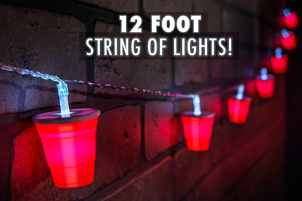 Red Party Cup String Of Lights