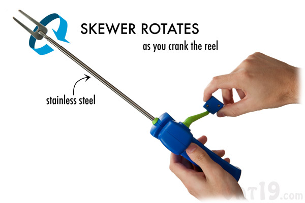 Reel Roasters Hand Crank Skewer.