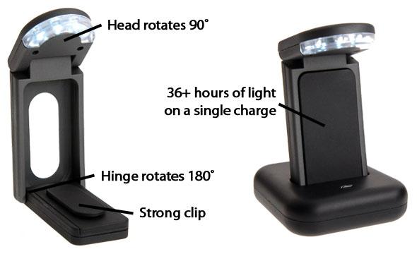 relight rechargeable led book light. Black Bedroom Furniture Sets. Home Design Ideas