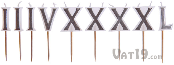 Roman Numeral Candles Set from Fred
