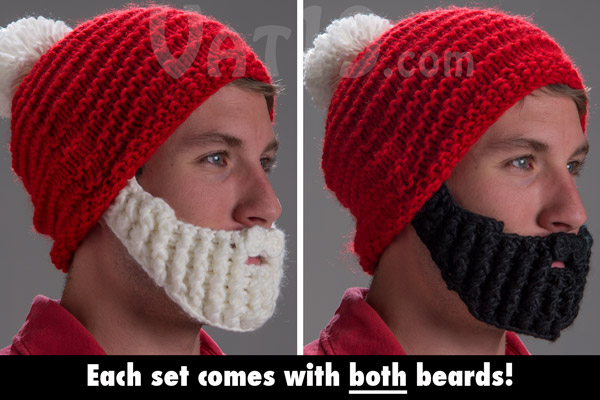 The Santa Beardo Beard Hat comes with two beards: white and black.