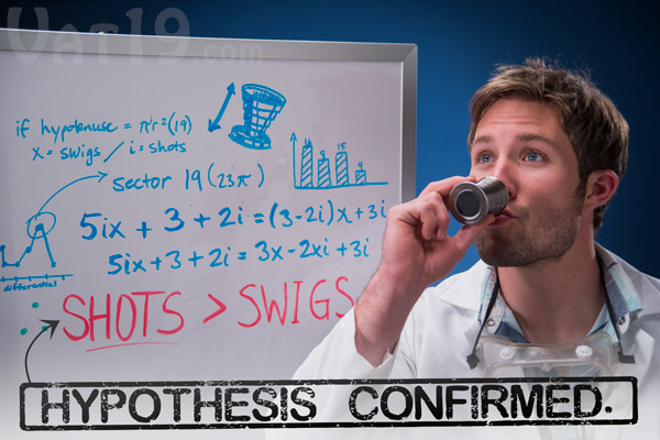 Mathematicians have discovered evidence that proves that shots are indeed superior to swigs of liquor.