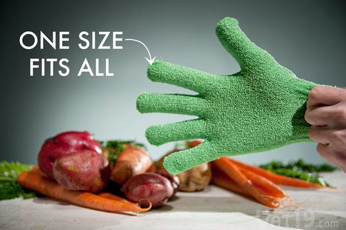 Skrub'a Gloves fit any size adult hand.