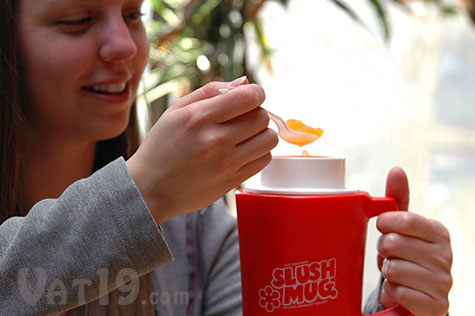 Turn your beverage into a homemade slushee with the Slush Mug Slush Maker