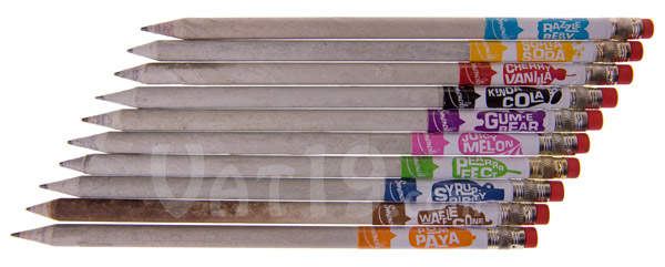 Smencils Gourmet Scented Pencils are made from 100% recycled newspaper