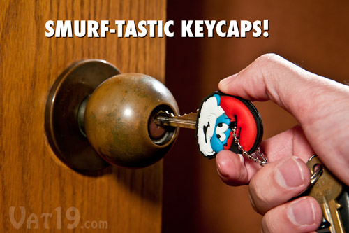 Smurf Key Caps turn any boring key into a Smurf-tastic Key!