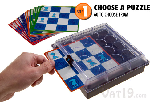 To begin playing Solitaire Chess, first choose one of the 60 included challenges.