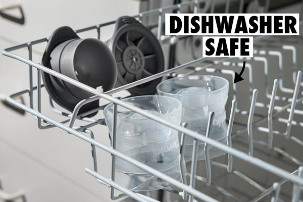 Sphere Ice Molds are dishwasher safe.