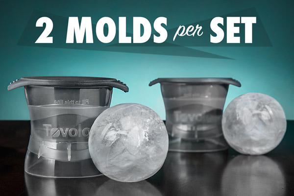 Each set of Sphere Ice Molds includes two ice ball makers.