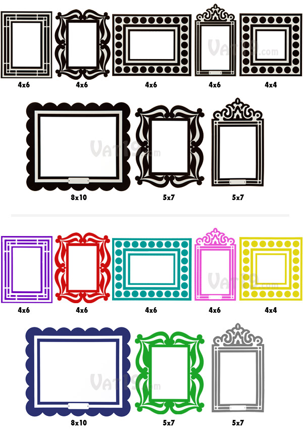 A total of eight removable sticker frames are included in each order.