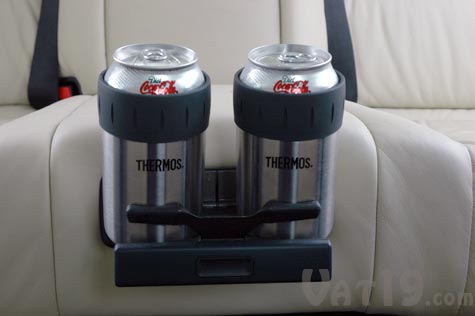 Thermos Vacuum Insulated Koozie fits in nearly all cars