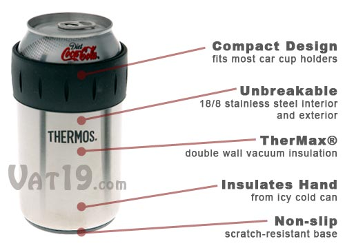 Thermos Can Koozie is made from stainless steel