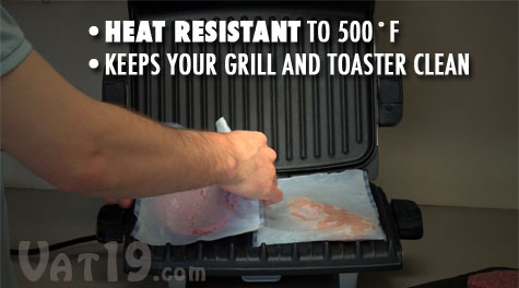 Cook cleanly on your indoor grill using ToastIt Toaster Bags