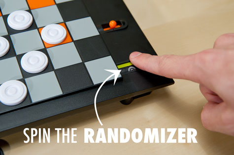 Spin the Trapdoor Checkers randomizer at the start of each turn.