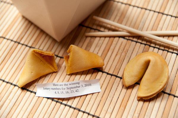 Unfortunate Cookies look and taste just like regular fortune cookies.