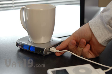 USB Drink Warmer is also a USB hub