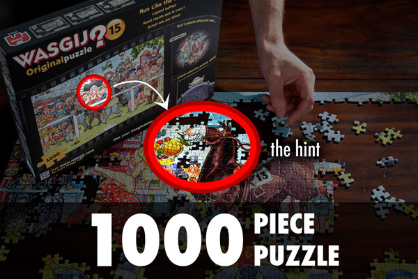Each WASGIJ? Jigsaw Puzzle is a 1000-piece puzzle.