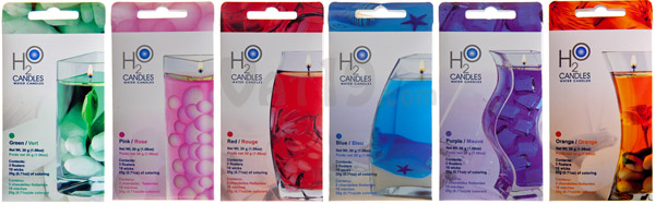 Water Candle Kits are available in a variety of colors.