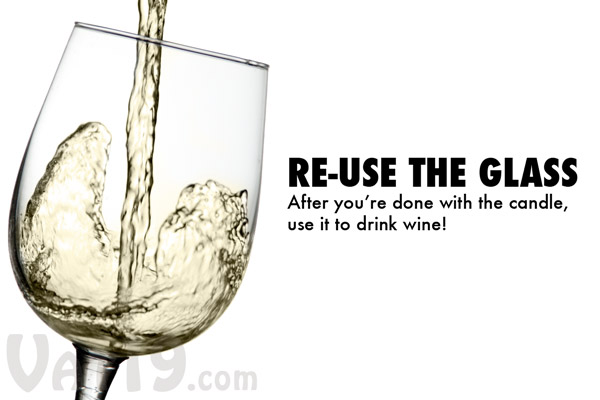 After all of the gel is used, you've got a wine or champagne glass that can be reused.