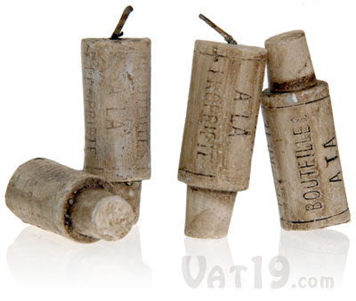 Each order of Wine Cork Candles includes four candles.