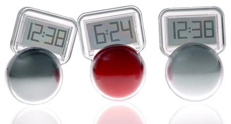 Wobble LCD Clock is available in several styles.