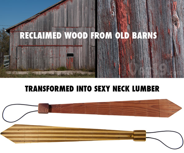 Wood Ties are made from reclaimed wood from old barns.