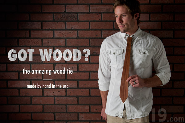 The Recycled Wood Neck Tie