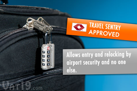 WordLock Luggage Locks are Travel Sentry Approved and TSA recognized.